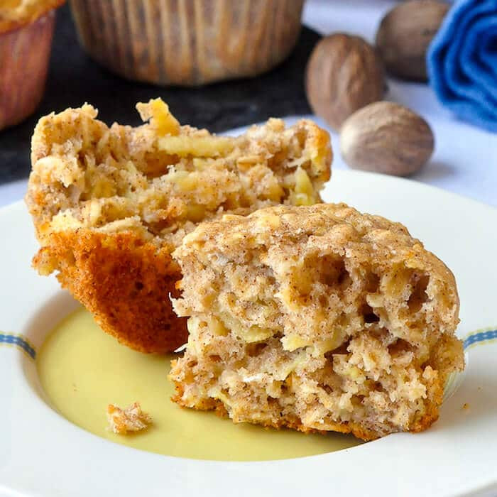 Easy Low Cholesterol Recipes  Oatmeal Apple Banana Low Fat Muffins Easy delicious