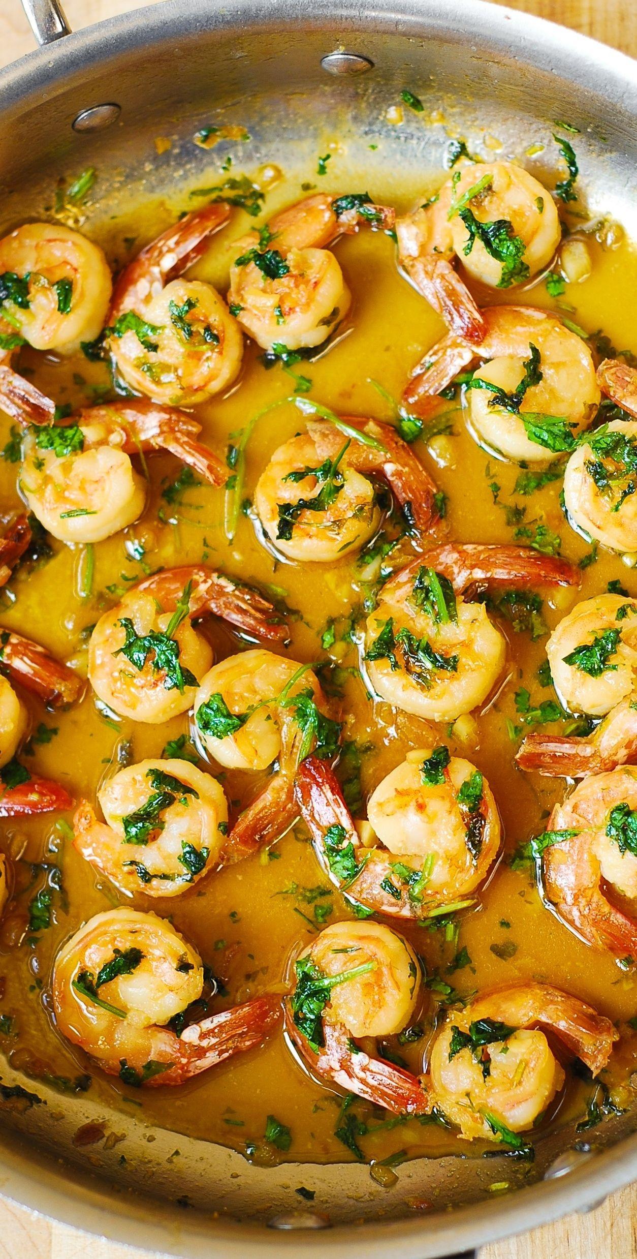 Easy Low Cholesterol Recipes  Cilantro Lime Honey Garlic Shrimp easy healthy