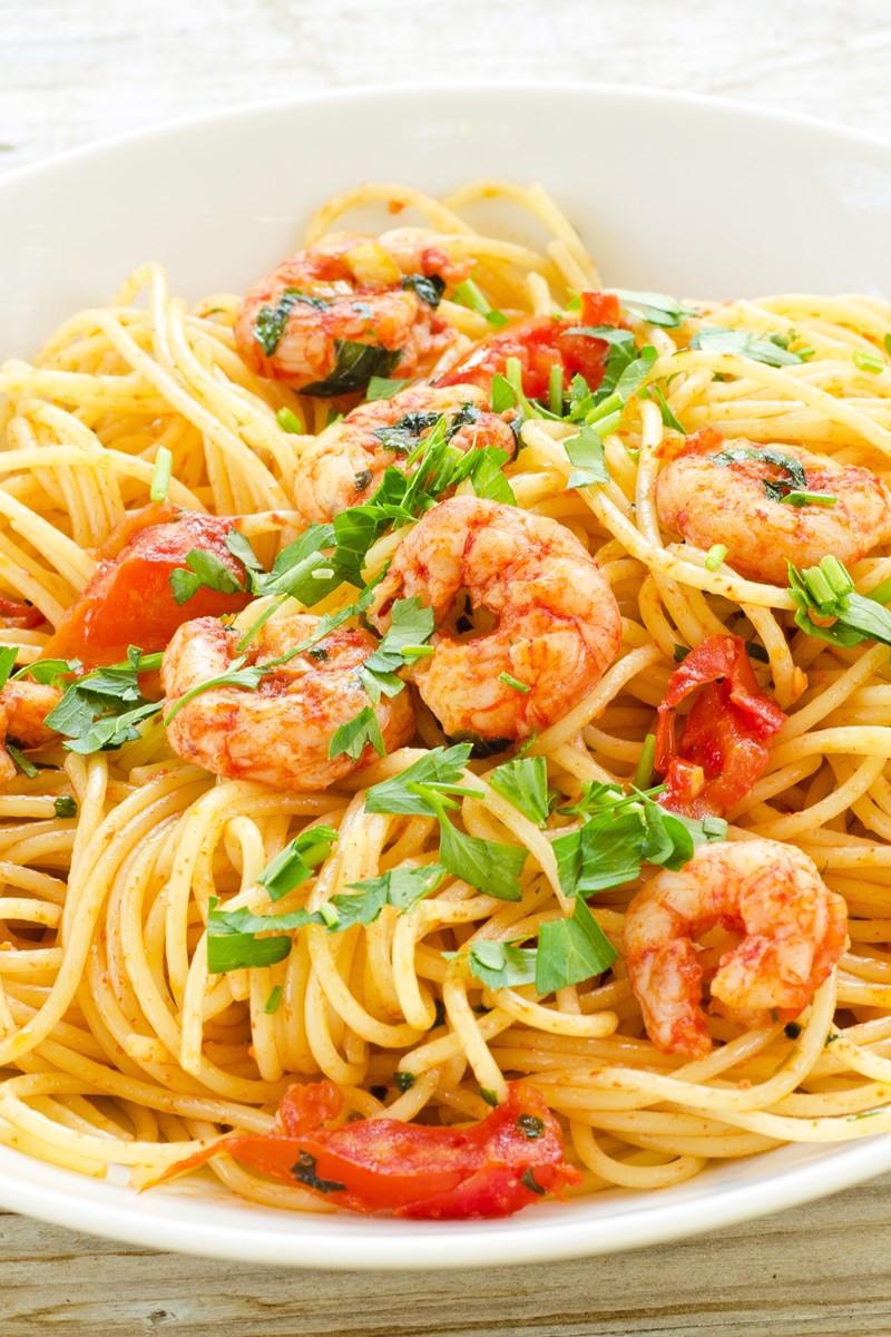 Easy Low Cholesterol Recipes  Easy Low Fat Spicy Shrimp Pasta