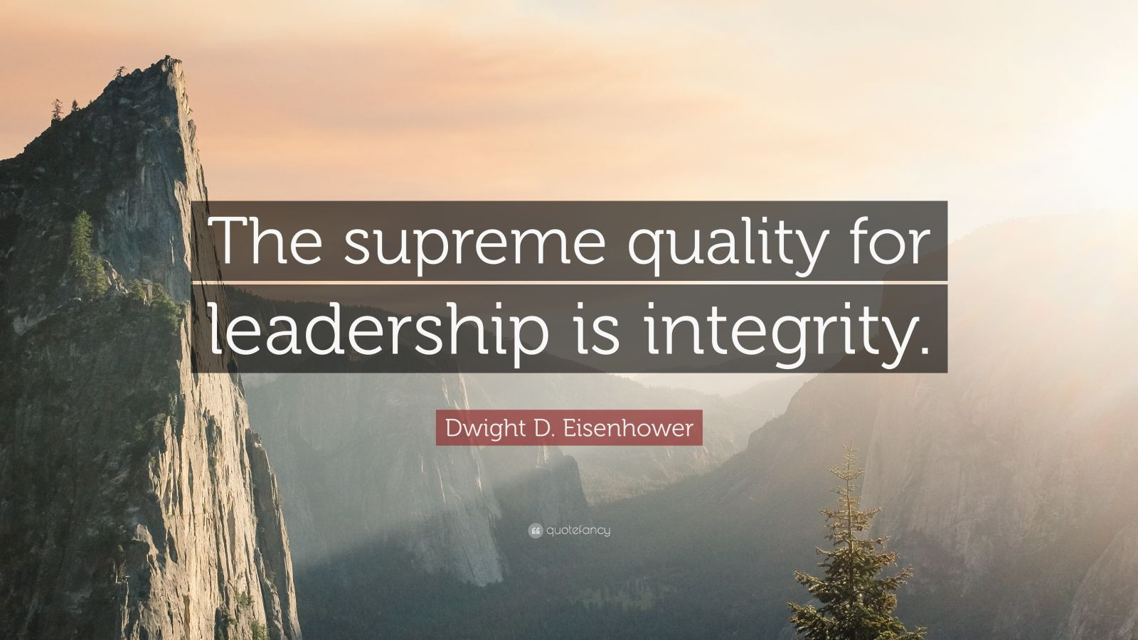 """Eisenhower Leadership Quote  Dwight D Eisenhower Quote """"The supreme quality for"""
