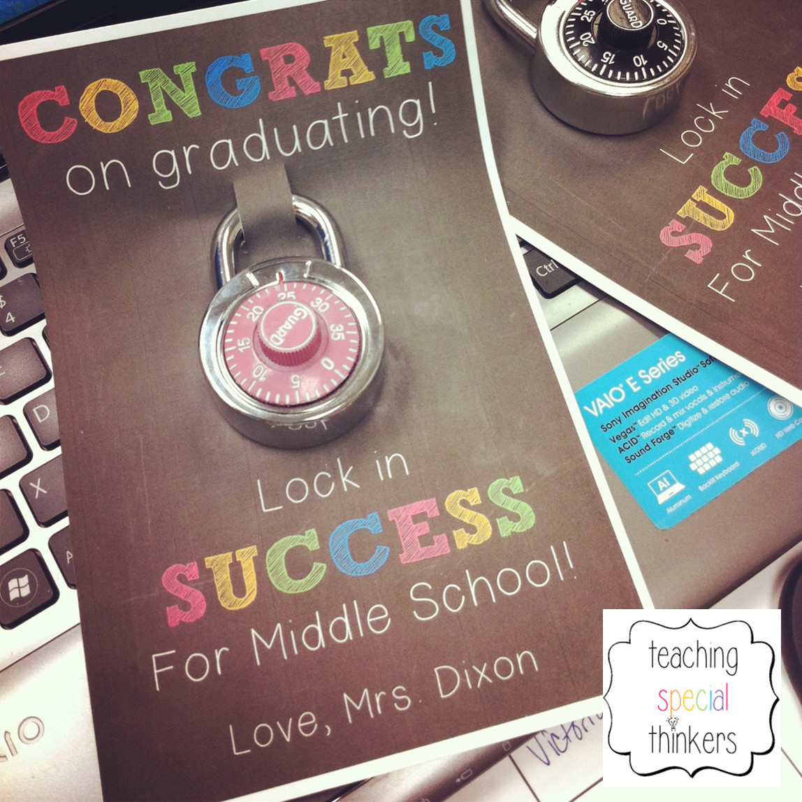 Elementary School Graduation Gift Ideas  Lock in Success – Student Gift for soon to be Middle