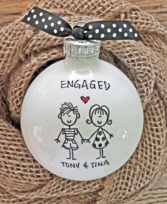 Engagement Gift Ideas For Couple  Engaged Engagement Gift Engagement Personalized by