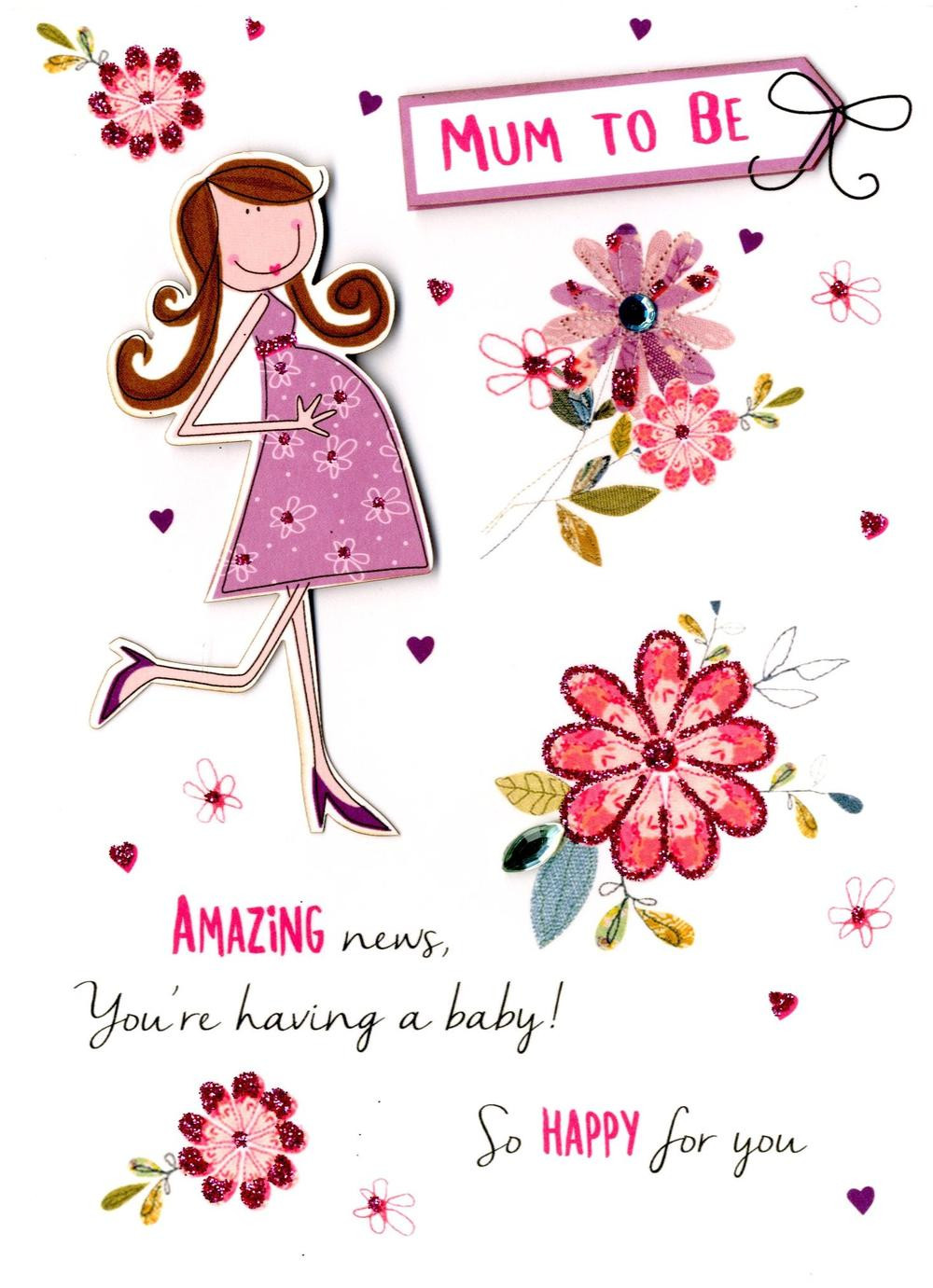 Expecting A Baby Gift  Mum To Be Expecting A Baby Greeting Card