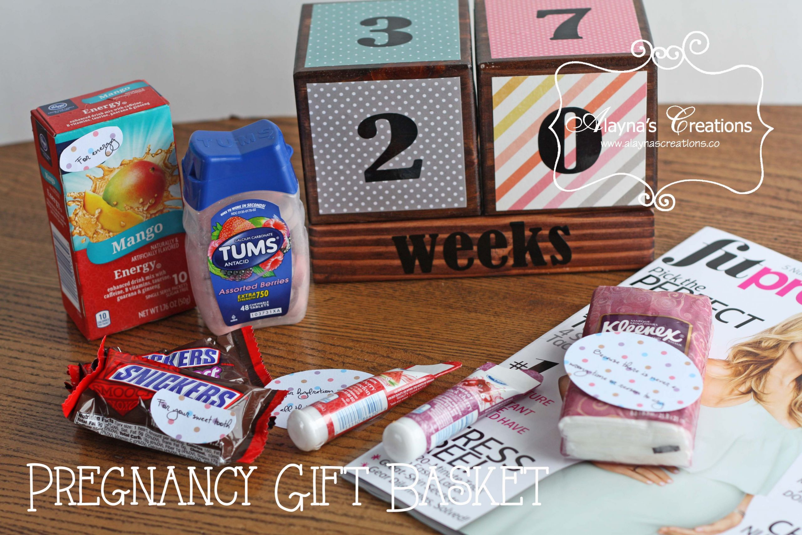 Expecting A Baby Gift  Pregnancy Survival Kit – Gift Basket Idea – alaynascreations