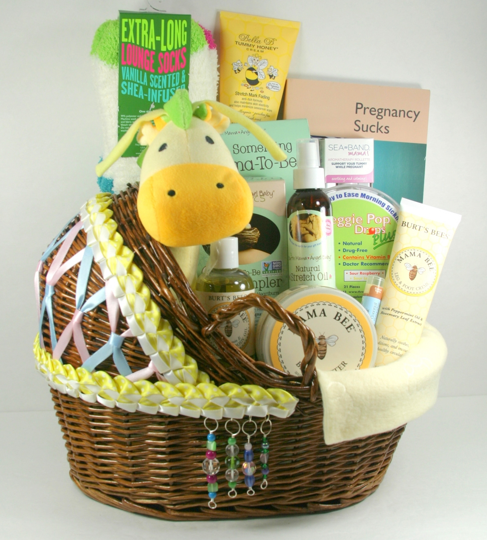 Expecting A Baby Gift  During Pregnancy Mom To Be Care Package With Bassinet