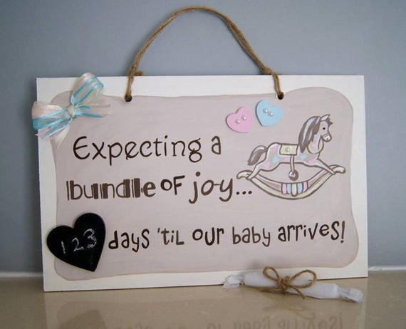 Expecting A Baby Gift  Expecting a baby Baby Countdown Plaque Gift for