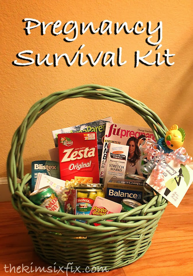 Expecting A Baby Gift  Pregnancy Survival Kit Mom to be Gift Basket The Kim