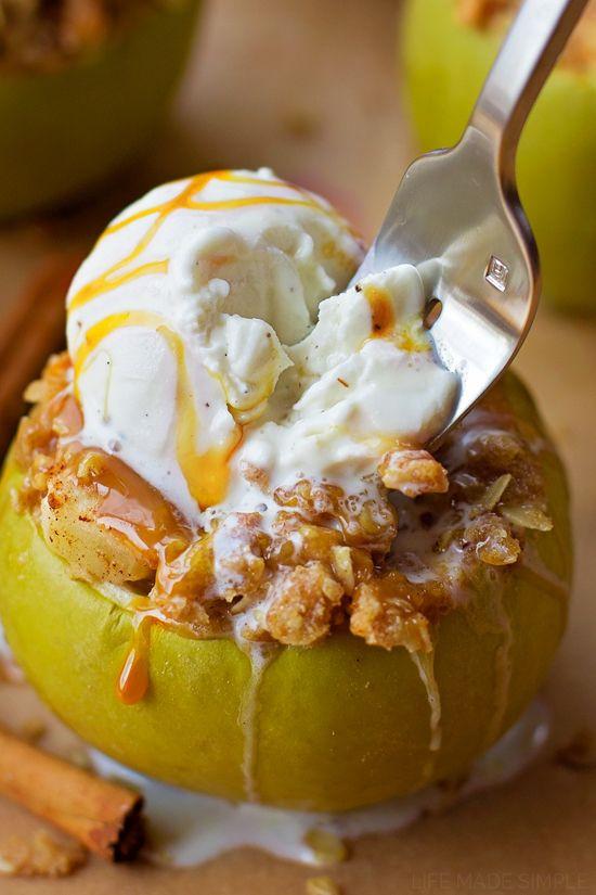 Fall Fruit Desserts  Apple Crisp Stuffed Apples Recipe