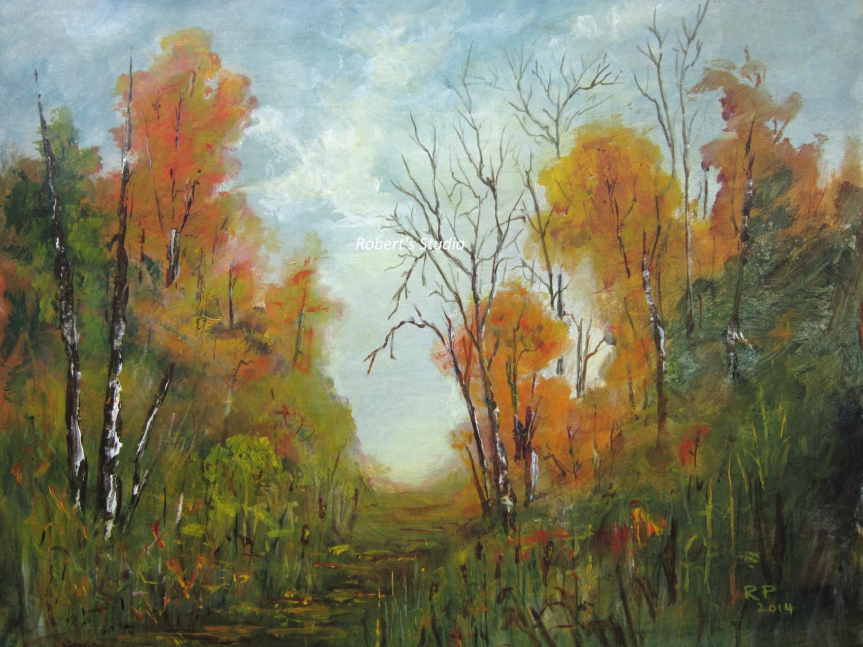 Fall Landscape Painting  Fall landscape painting print autumn landscape fall