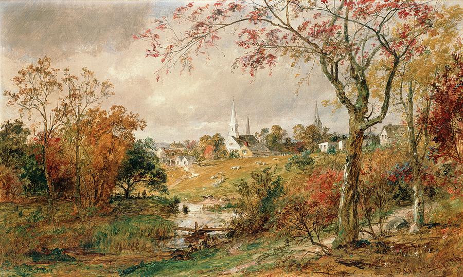 Fall Landscape Painting  Autumn Landscape Painting by Jasper Francis Cropsey