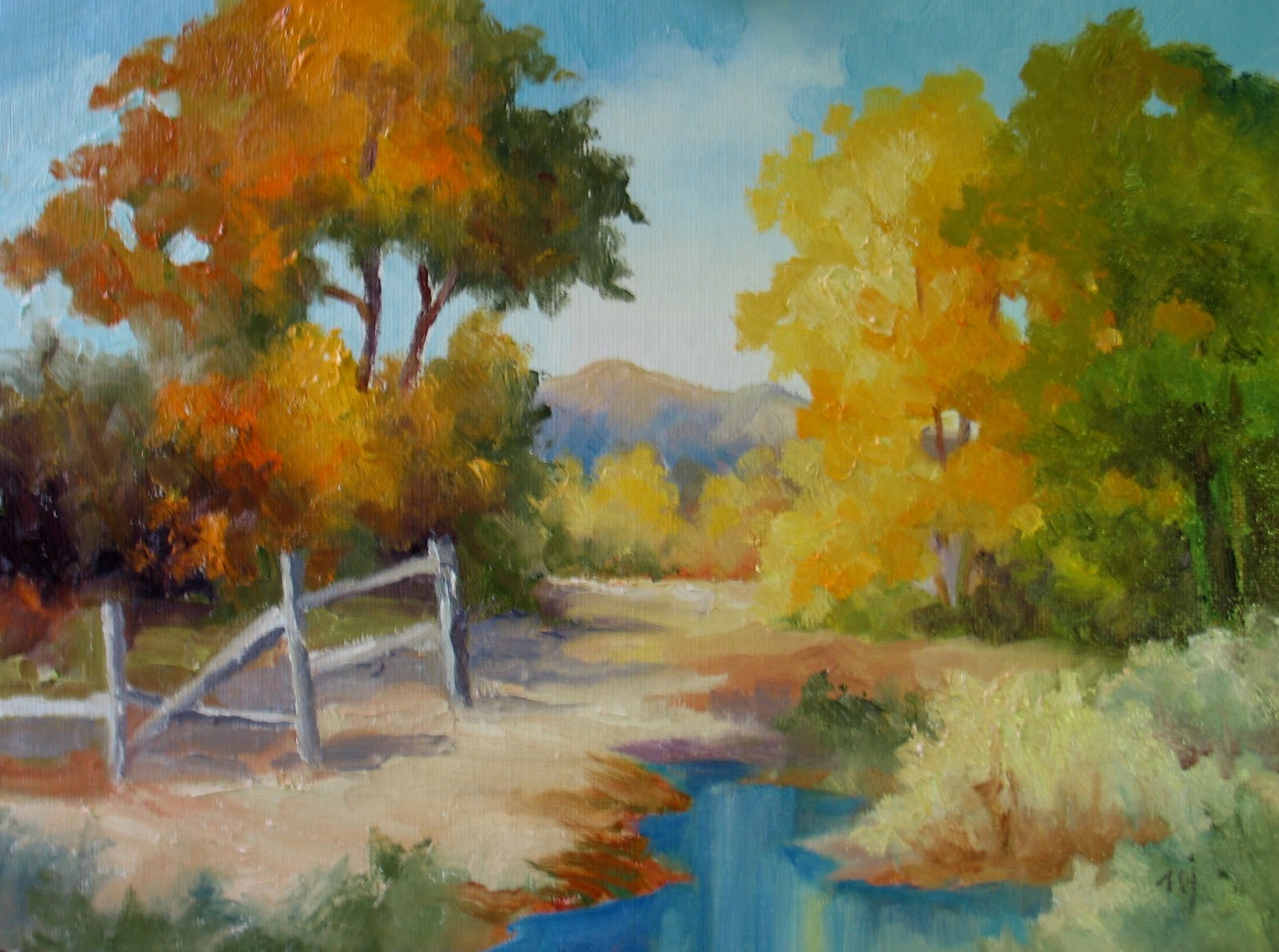 Fall Landscape Painting  Nel s Everyday Painting 12 16 12 12 23 12