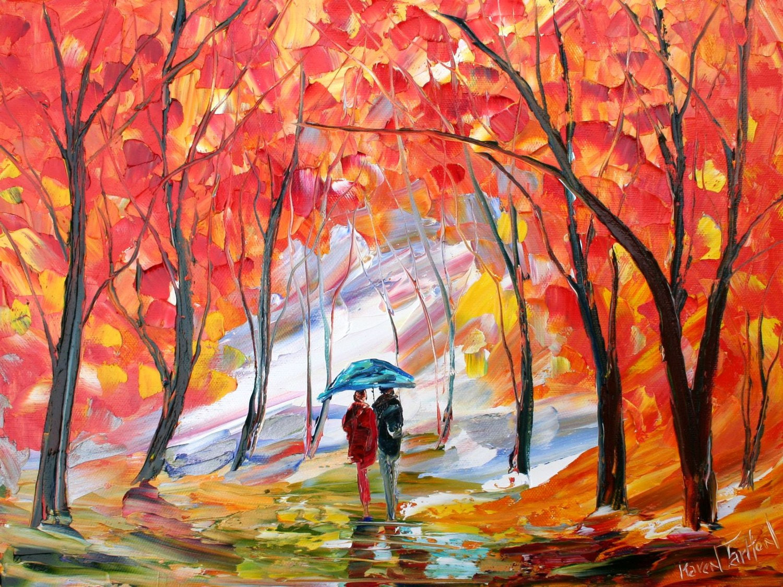 Fall Landscape Painting  Original oil painting Fall Landscape romance impressionism