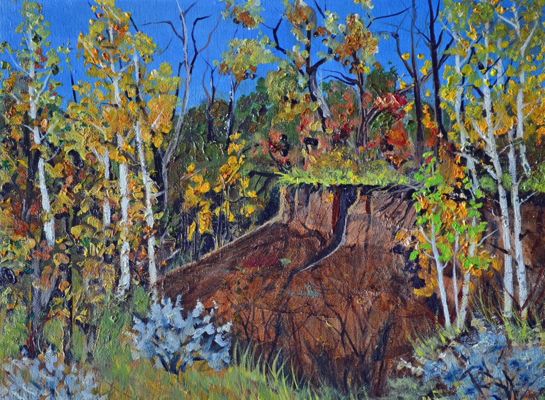 Fall Landscape Painting  Original oil painting autumn landscape Colorado fine art