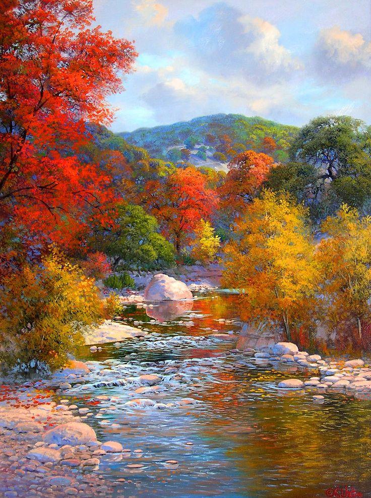 Fall Landscape Painting  Beautiful landscapes by Kay Walton