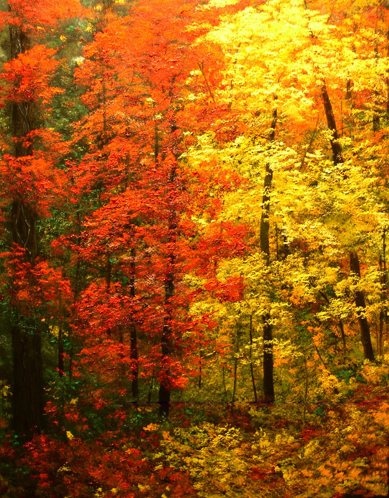 """Fall Landscape Painting  A Painting for You """"Colors of Autumn II"""" Autumn"""