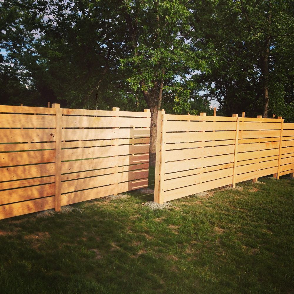 Fence Pictures For Backyard  DIY Wooden Backyard Fence