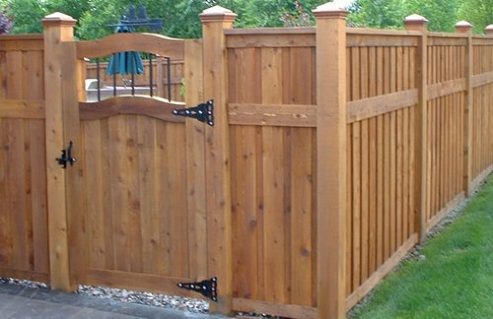 Fence Pictures For Backyard  Backyard fence styles large and beautiful photos