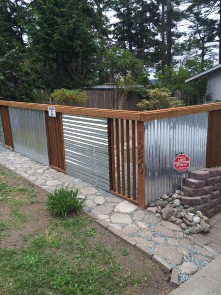 Fence Pictures For Backyard  25 Privacy Fence Ideas For Backyard Modern Fence Designs