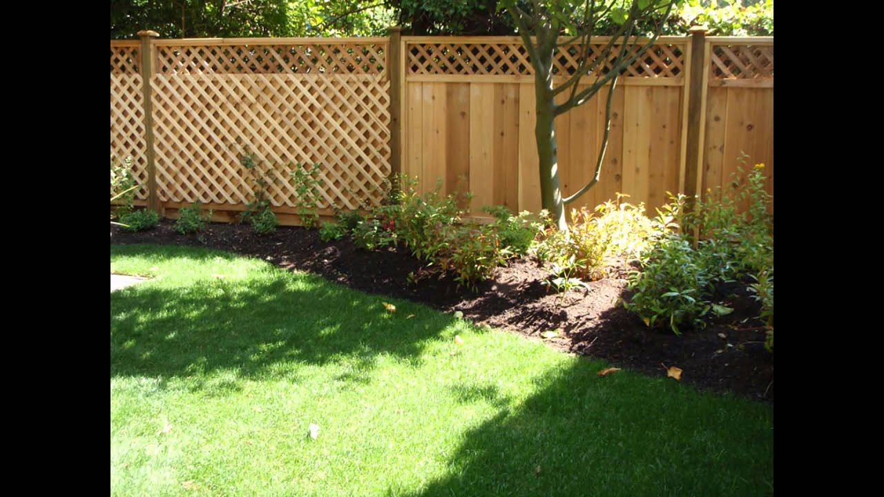 Fence Pictures For Backyard  Backyard Fence Ideas