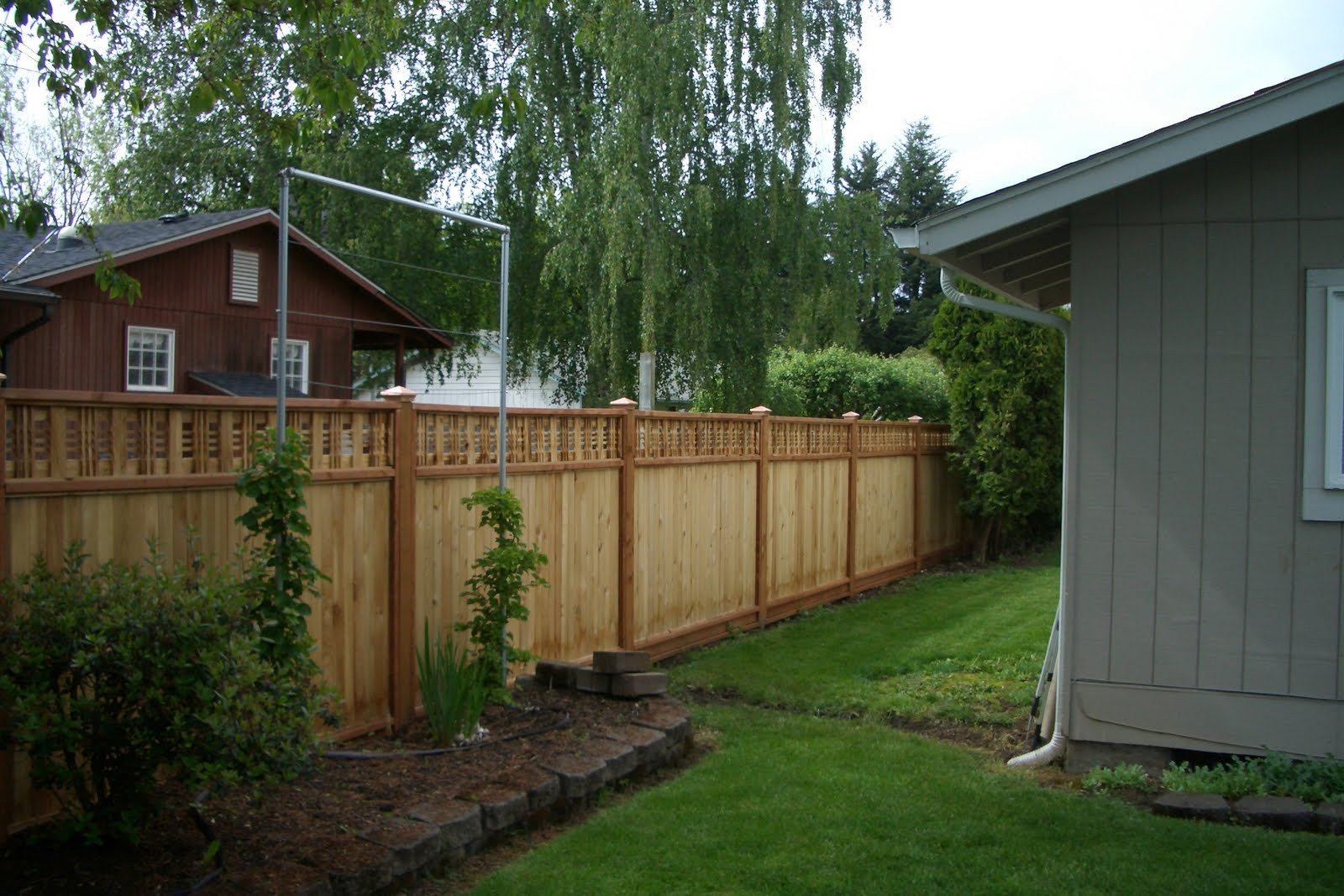 Fence Pictures For Backyard  Consider It Done Construction Backyard Fence