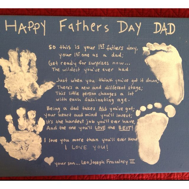 First Father'S Day Gift Ideas From Baby Boy  Look what Leo made for daddy s 1st fathers day