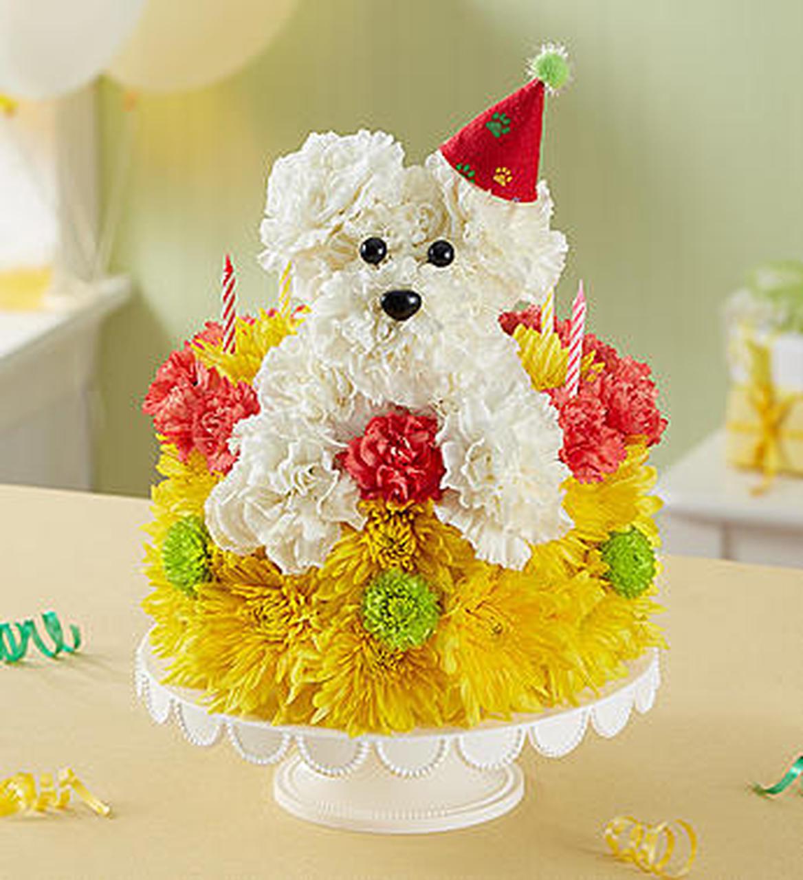 Flowers Birthday Cake  Birthday Wishes Flower Cake Pupcake Conroy s Flowers