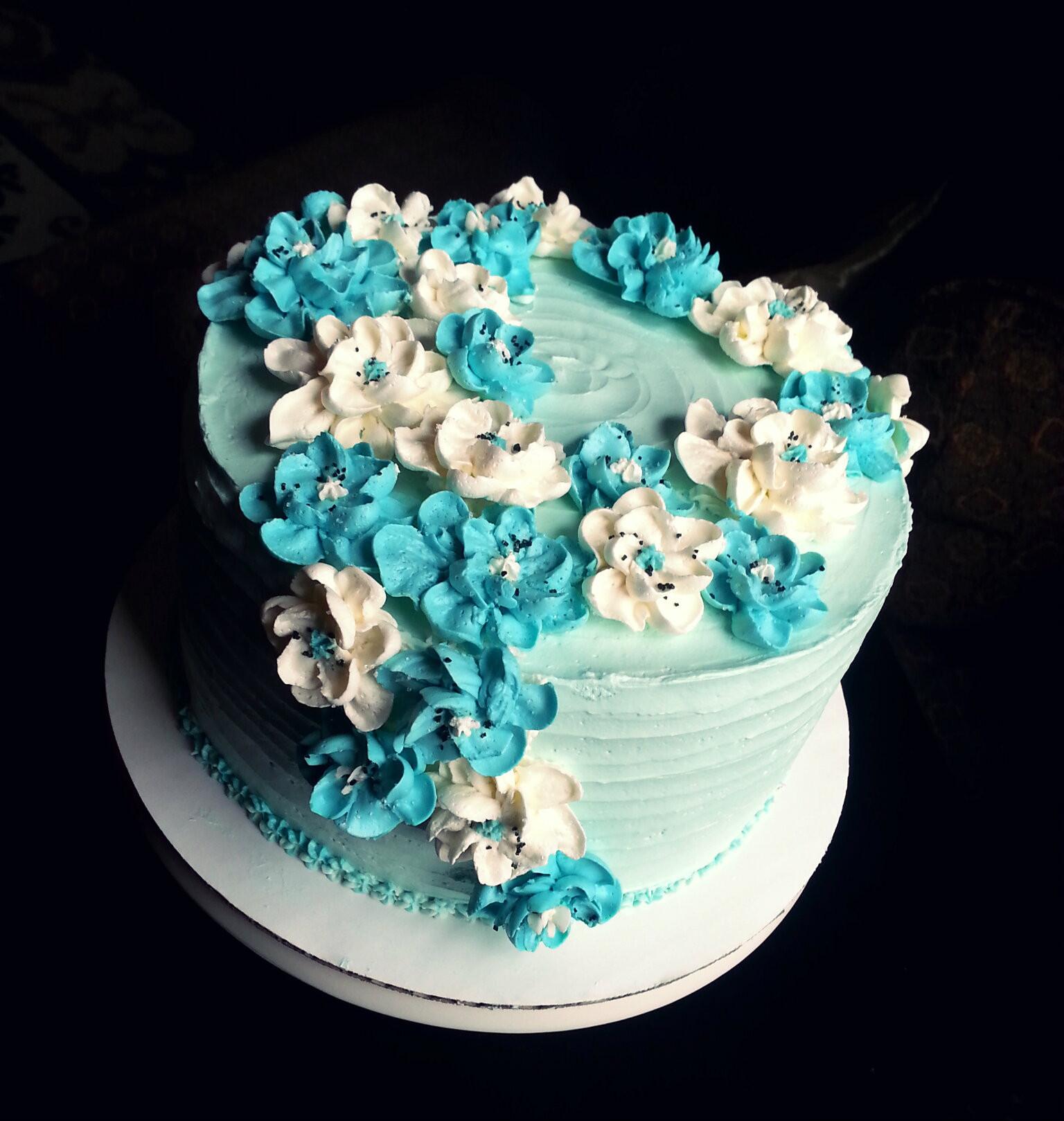 Flowers Birthday Cake  Spring Flowers Birthday Cake
