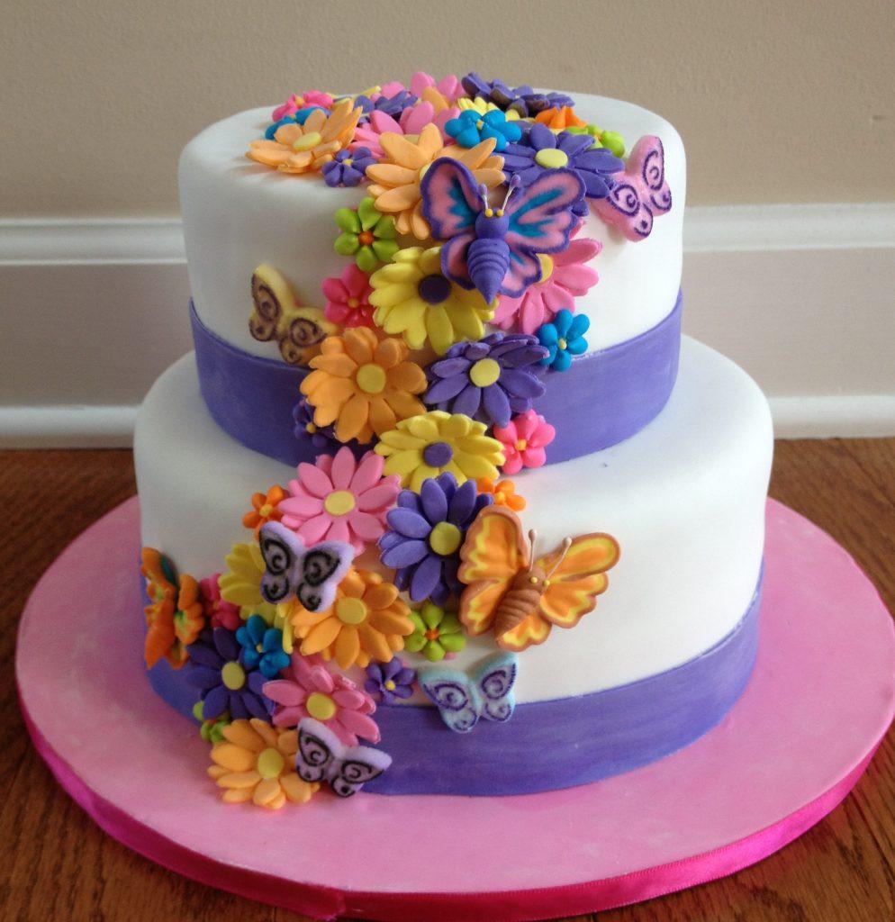 Flowers Birthday Cake  Sweet Art Detroit Jewish News