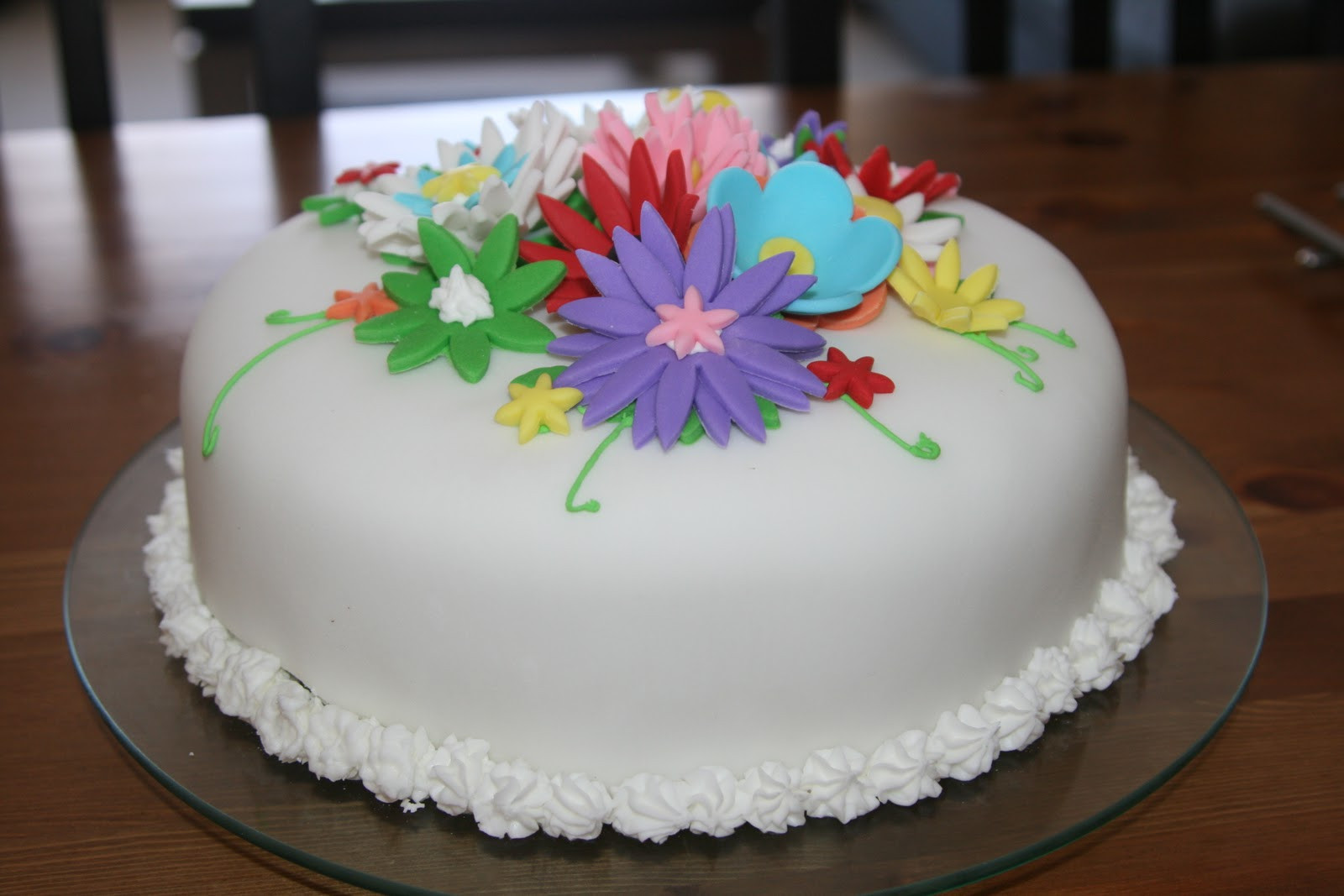 Flowers Birthday Cake  For the Fun of Cooking Flower Birthday Cake