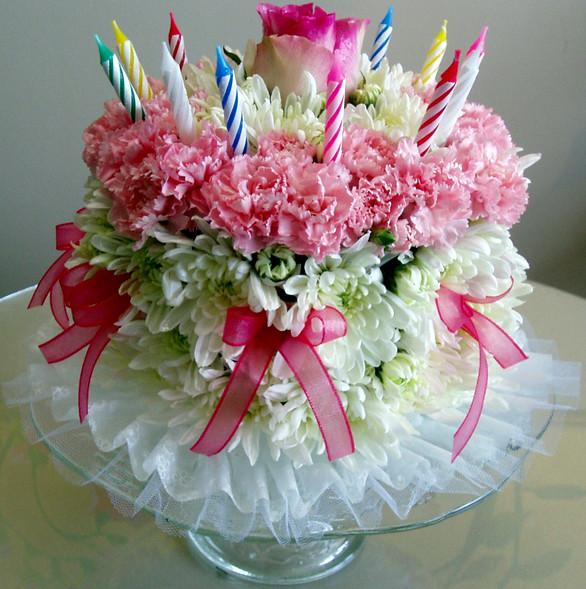 Flowers Birthday Cake  Happy Birth Day