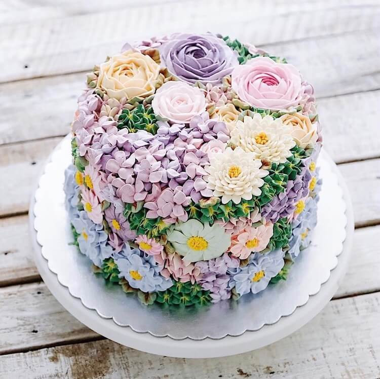 Flowers Birthday Cake  30 Beautiful Flower Cakes To Celebrate Spring In The Most