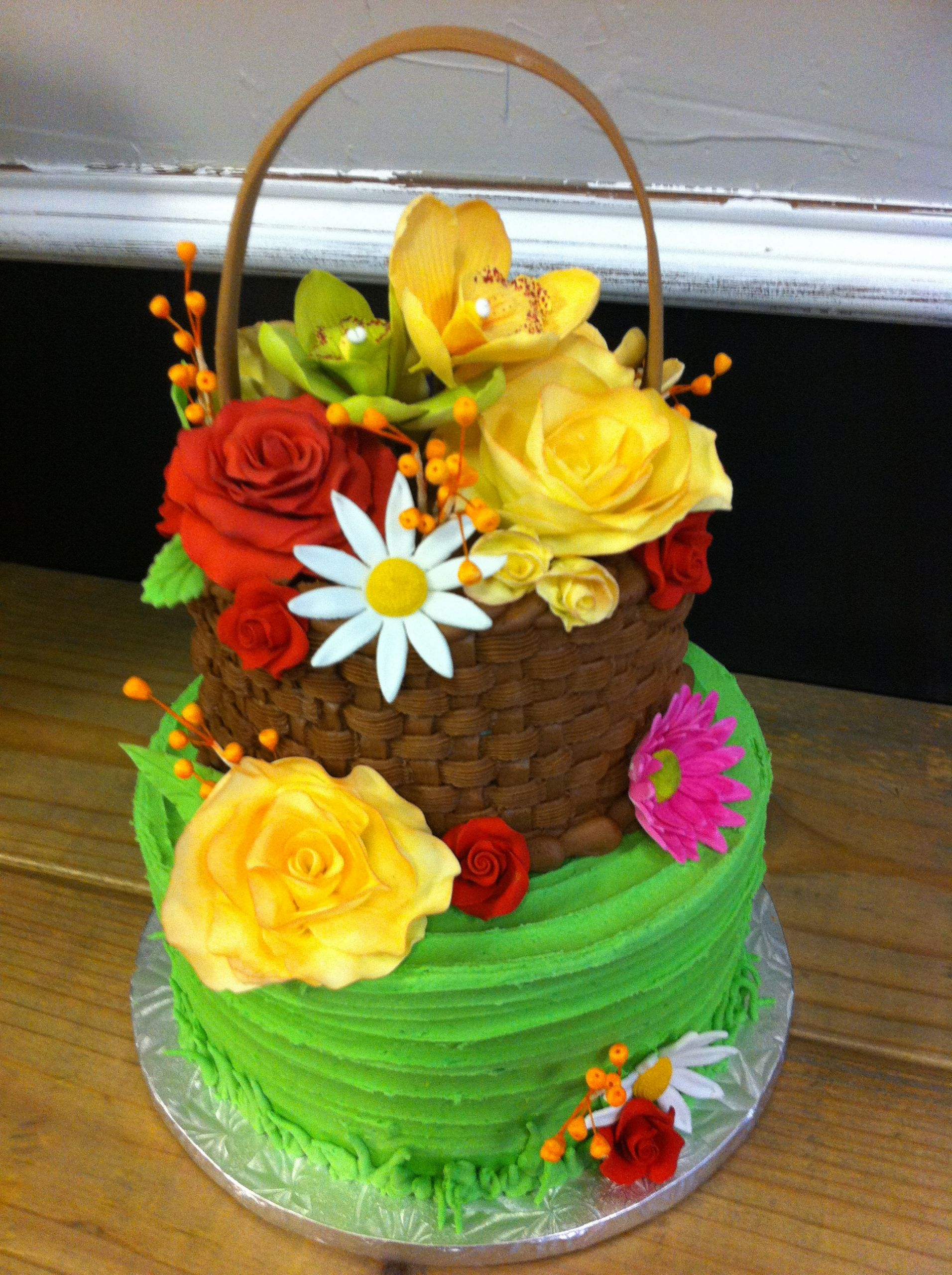 Flowers Birthday Cake  Party cakes in McKinney and Dallas Texas