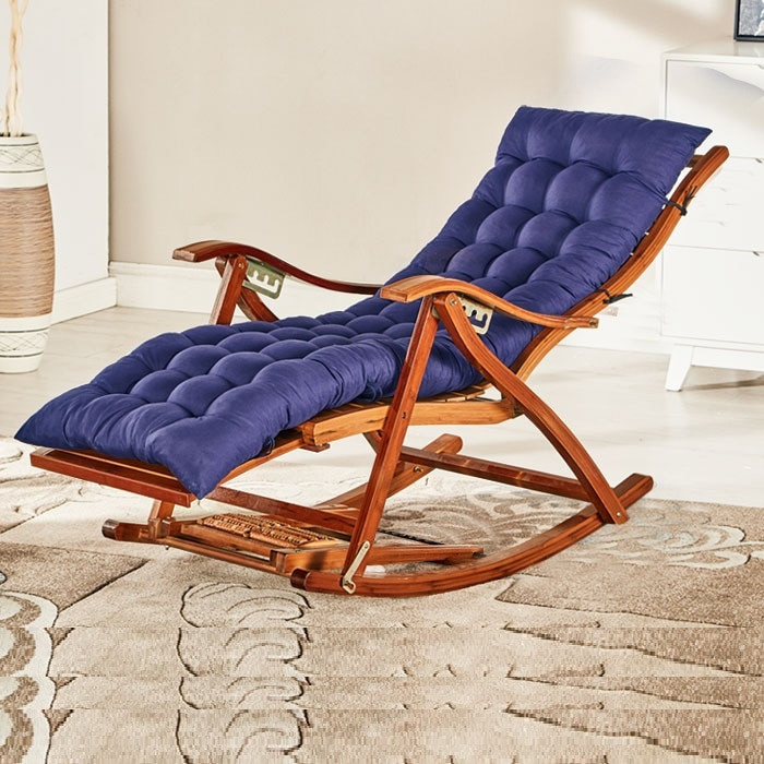 Folding Living Room Chairs  Rocking Chair Adult Folding Lunch Break Easy Chair Living