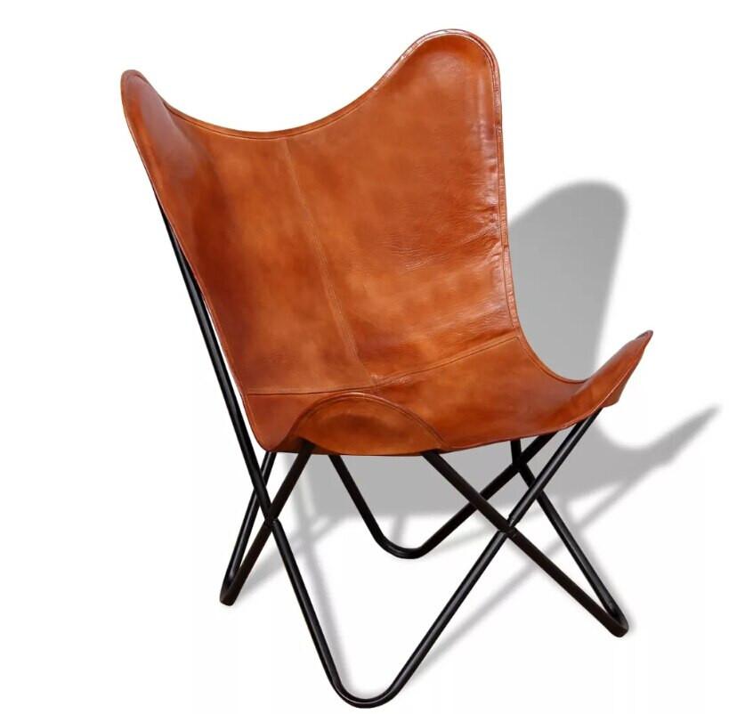 Folding Living Room Chairs  VidaXL Portable Folding Butterfly Chair Upholstery PU