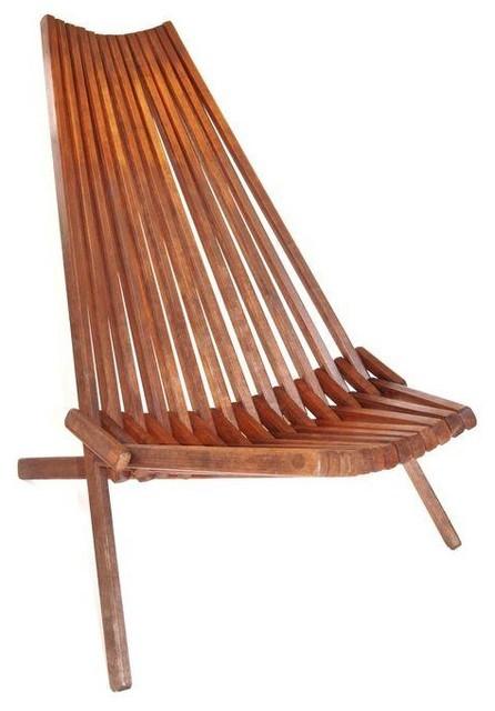 Folding Living Room Chairs  Danish Slat Teak Folding Lounge Chair Modern Living