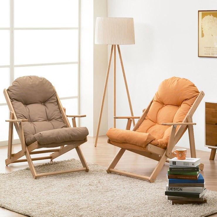 Folding Living Room Chairs  Soft wood chair folding chair sofa chair backrest balcony