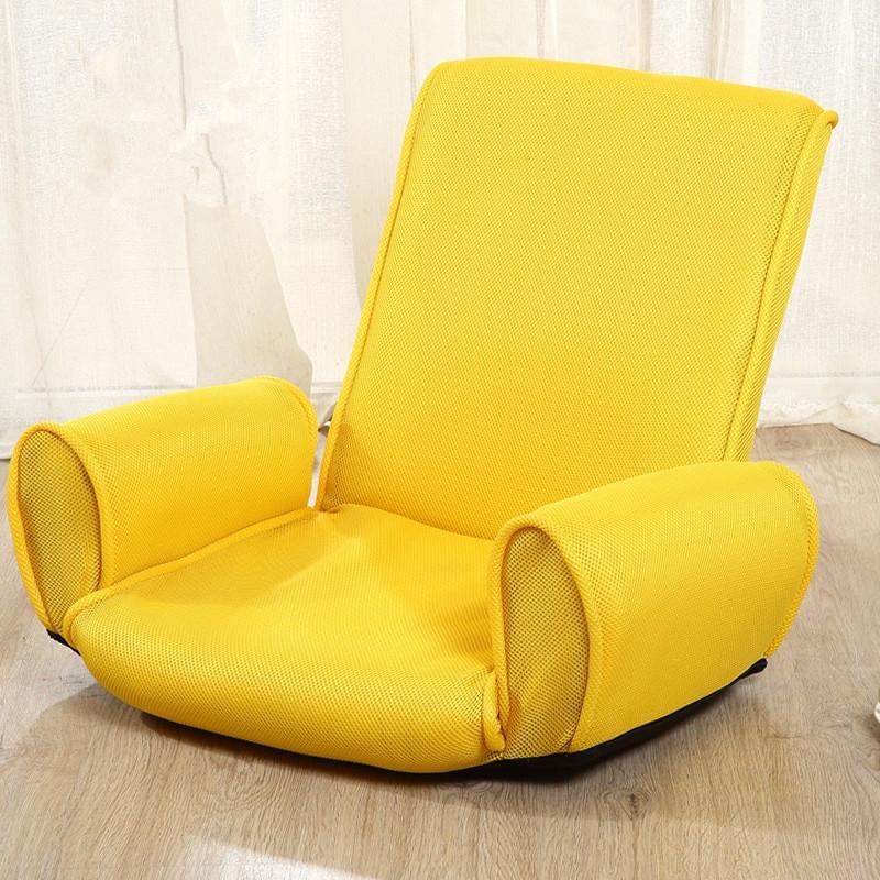 Folding Living Room Chairs  Japanese Fabric Armchair Design Floor Folding 5 Position