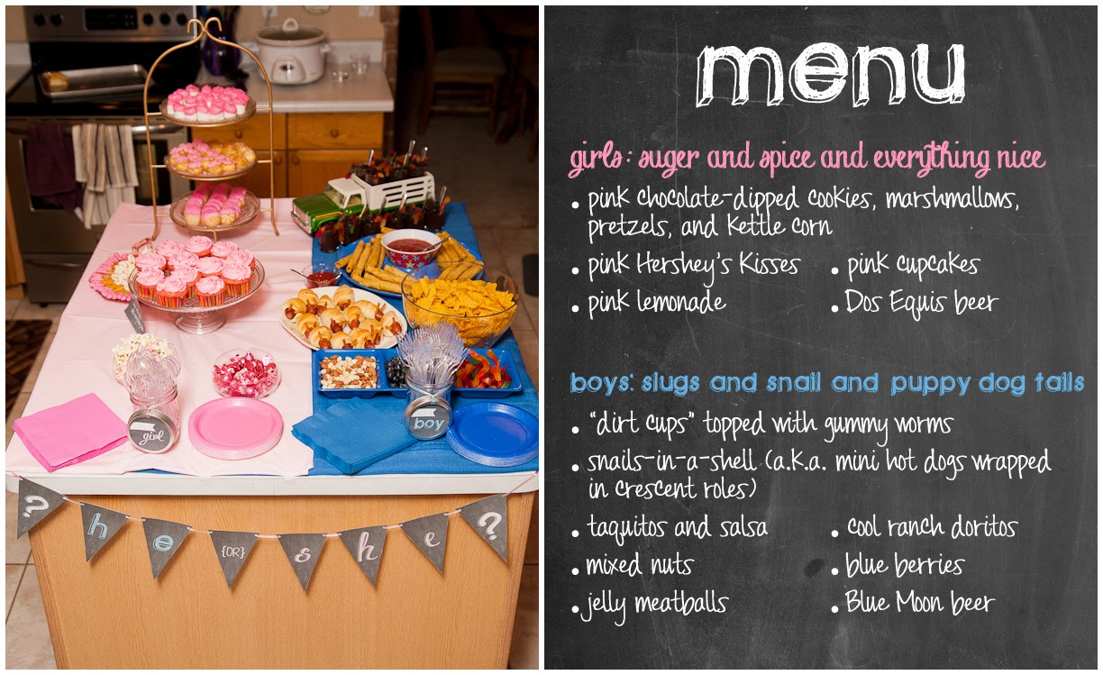 Food Ideas For Baby Gender Reveal Party  Nothings and Notions from my Noodle Gender Reveal Party