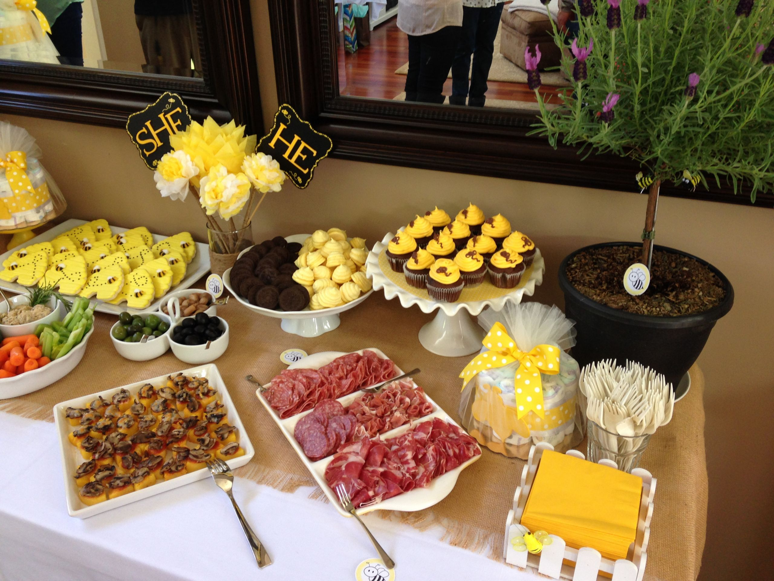 Food Ideas For Baby Gender Reveal Party  Our bumble bee themed gender reveal party
