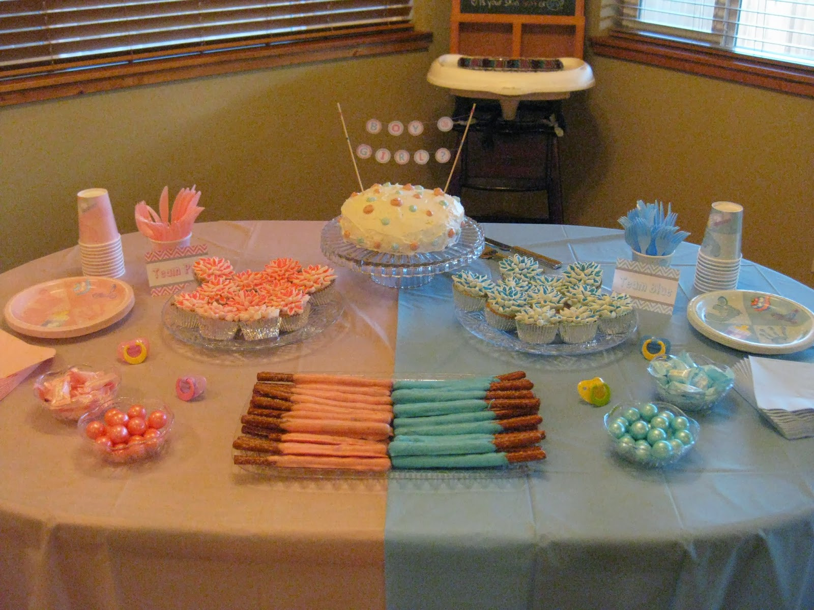 Food Ideas For Baby Gender Reveal Party  Decorable Designs Blue vs Pink Our Gender Reveal