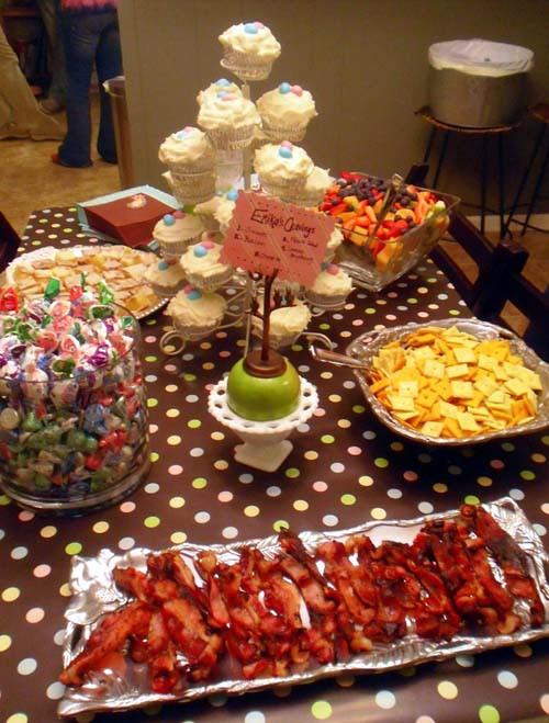 Food Ideas For Baby Gender Reveal Party  Baby Gender Reveal Party Menu