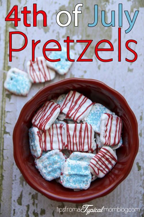 Fourth Of July Pretzels  4th of July Pretzels Treat