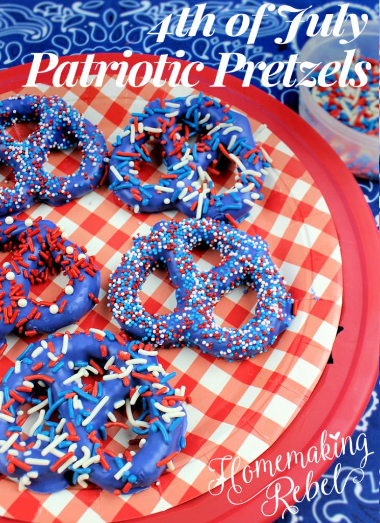 Fourth Of July Pretzels  4th July Patriotic Pretzels Homemaking Rebel