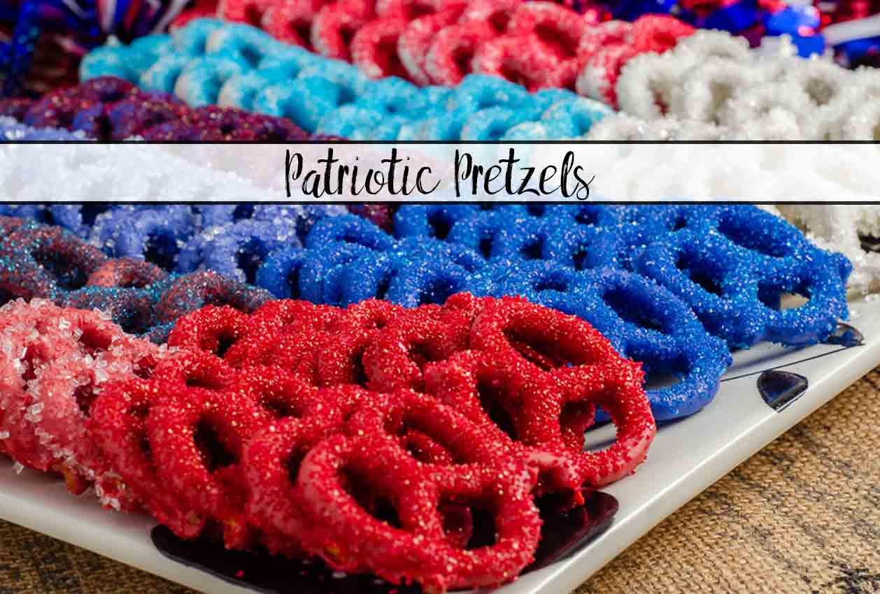 Fourth Of July Pretzels  Patriotic Pretzels Sweet & Salty Fourth of July Snack