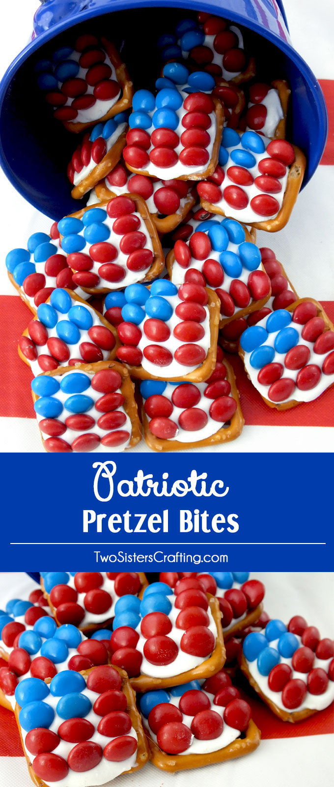 Fourth Of July Pretzels  Patriotic Pretzel Bites Two Sisters