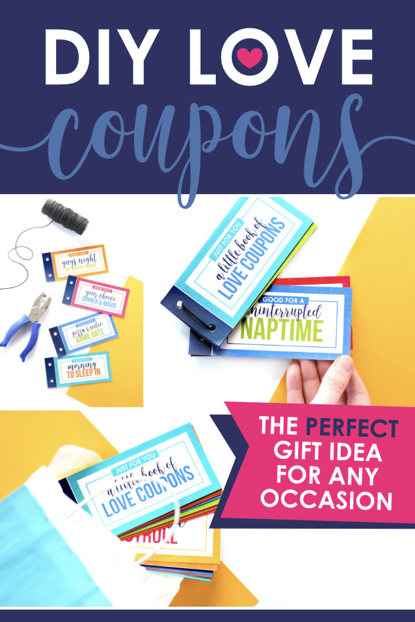 Free Gift Ideas For Boyfriend  DIY Love Coupons for Him