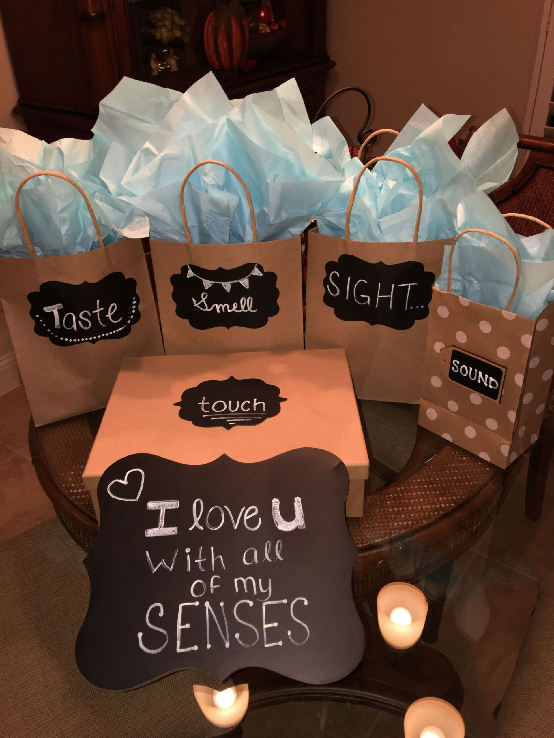 Free Gift Ideas For Boyfriend  I love you with all of my senses my version for my