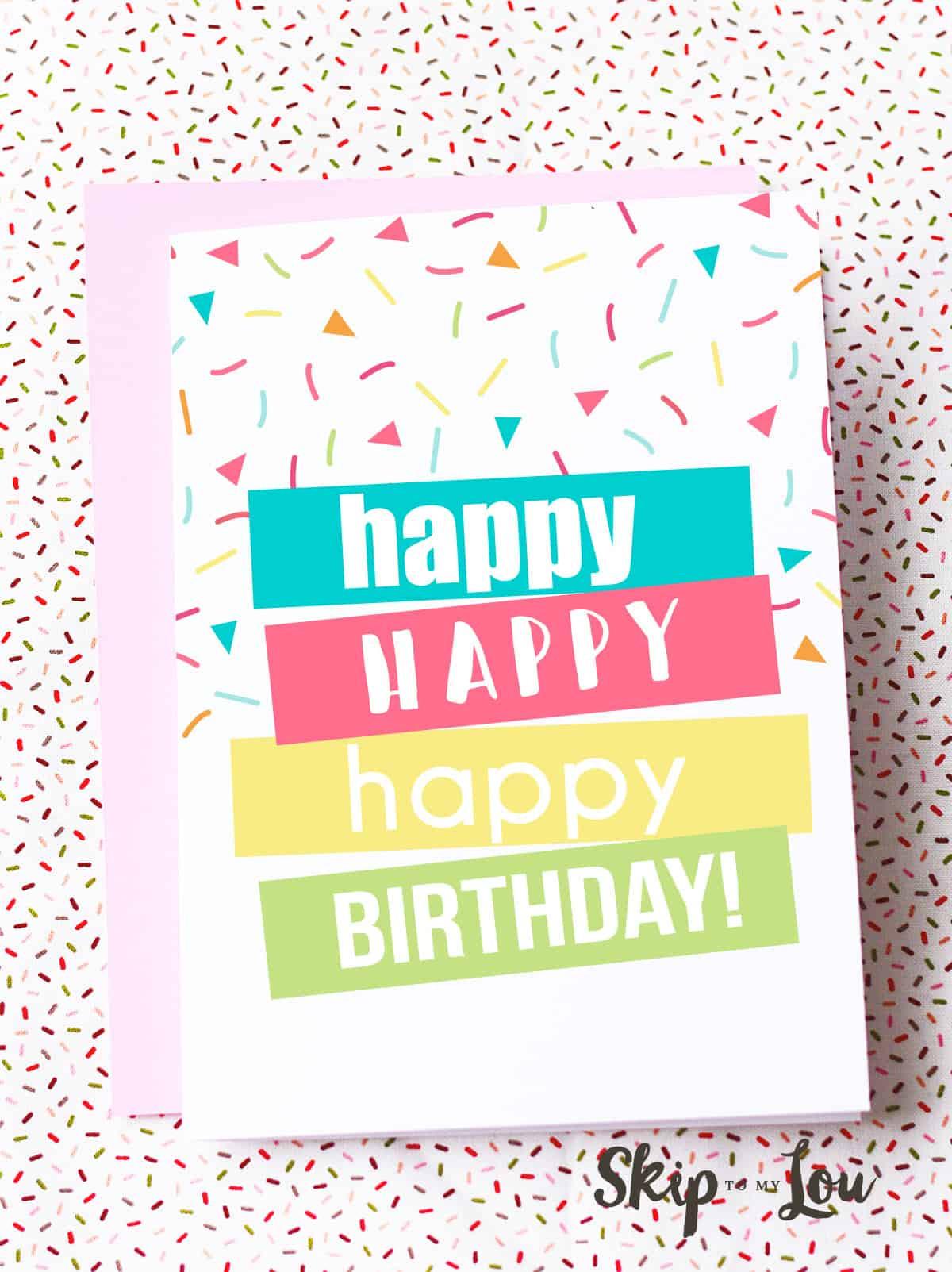 Free Printable Kids Birthday Cards  Free Printable Birthday Cards