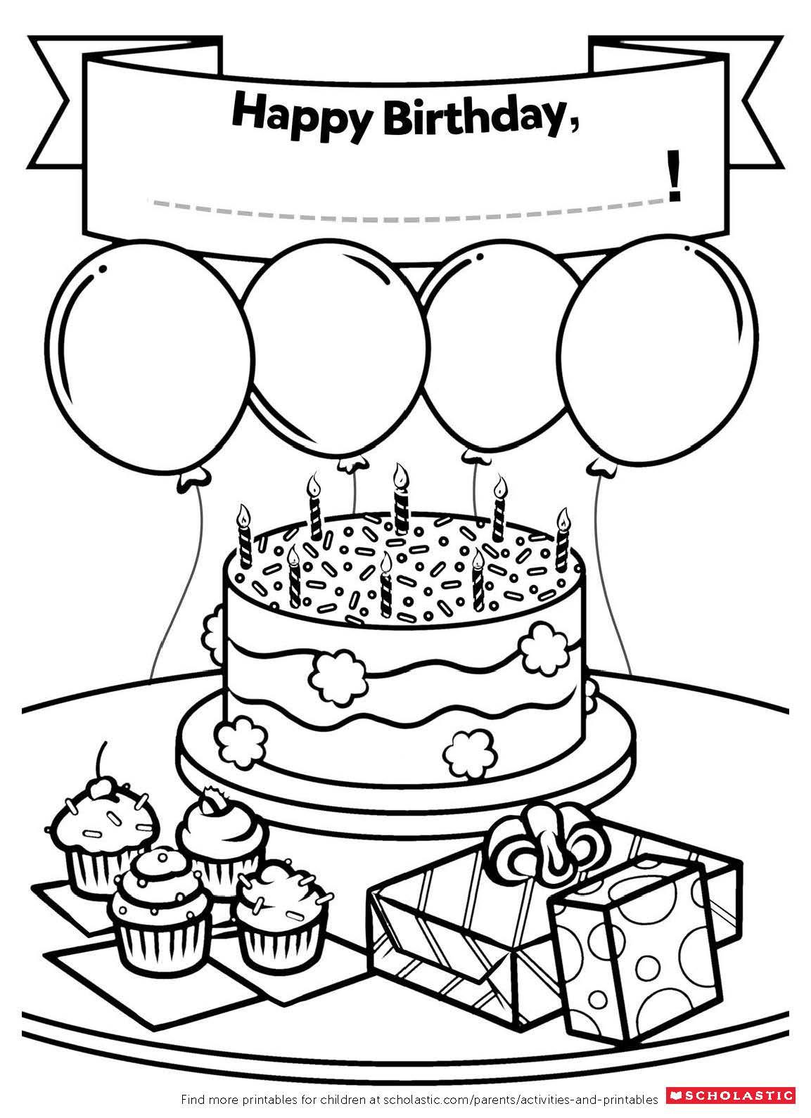 Free Printable Kids Birthday Cards  A Homemade Birthday Card