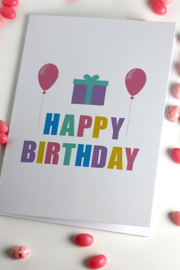 Free Printable Kids Birthday Cards  Free Printable Blank Birthday Cards